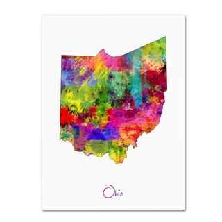 Michael Tompsett 'Ohio Map' Canvas Wall Art