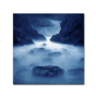 Moises Levy 'Tormenta en Ixtapa Blue' Canvas Wall Art