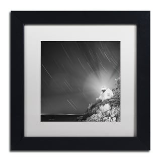 Moises Levy 'Bass Harbor Sky' White Matte, Black Framed Canvas Wall Art