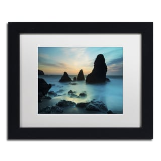 Moises Levy 'Rodeo Beach I' White Matte, Black Framed Canvas Wall Art