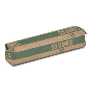 Sparco Flat $5.00 Dimes Coin Wrapper - (1000 Per Box)