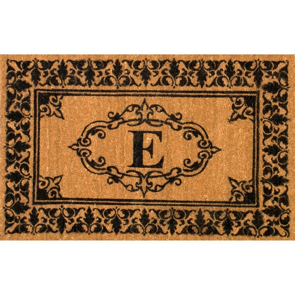 nuLOOM Estate Monogrammed Welcome Door Mat Letter E (2' 6 x 4')
