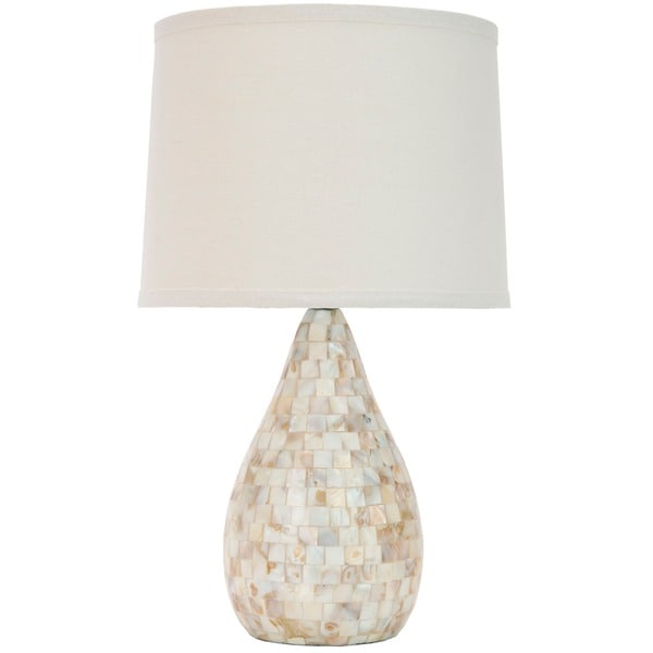Safavieh Lauralie Cream Ivory Capiz Shell Table Lamp