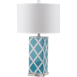 Safavieh Garden Lattice Light Blue Table Lamp