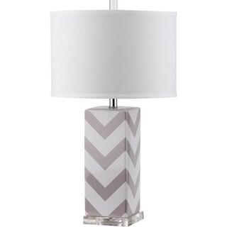 Safavieh Chevron Stripe Grey Table Lamp