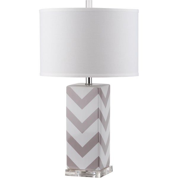 Safavieh Chevron Stripe Grey Table Lamp