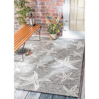 nuLOOM Handmade Coastal Starfish Indoor/ Outdoor Grey Rug (5' x 8')