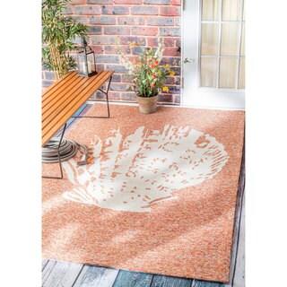nuLOOM Handmade Coastal Seashell Indoor/ Outdoor Terra Rug (5' x 8')
