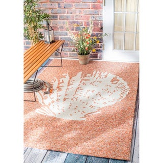 nuLOOM Handmade Coastal Seashell Indoor/ Outdoor Terra Rug (9' x 12')