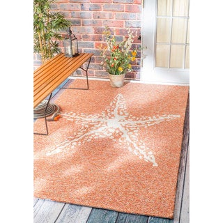 nuLOOM Handmade Coastal Giant Starfish Indoor/ Outdoor Terra Rug (9' x 12')