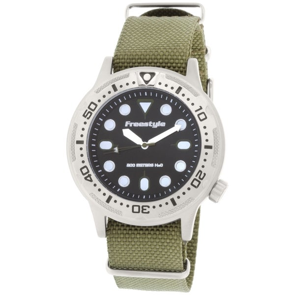 Freestyle Men's Ballistic 10019173 Green Nylon Quartz Watch