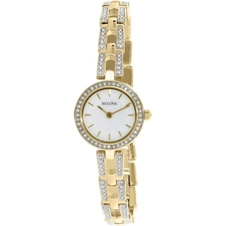 Bulova Women's 98L213 Gold Stainless-Steel Quartz Watch
