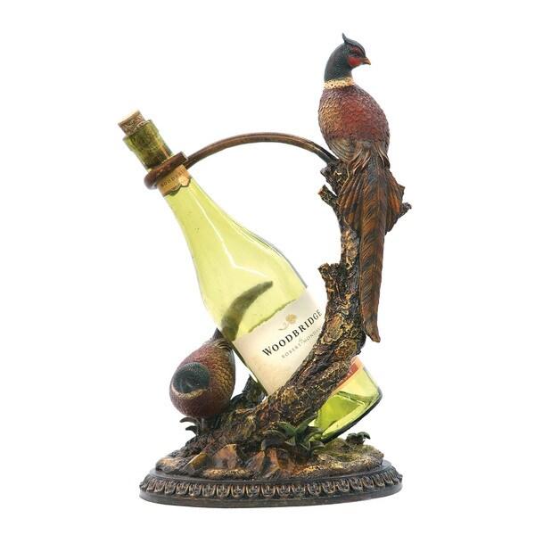 Autumn Pheasant Wine Holder
