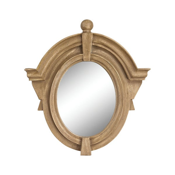 Parisian Dormer Russian Oak Mirror