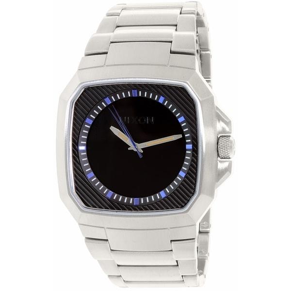 Nixon Men's Deck A3081529 Silver Stainless-Steel Quartz Watch