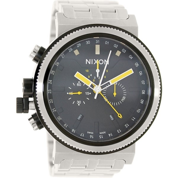 Nixon Men's Trader A1531227 Silver Stainless-Steel Quartz Watch