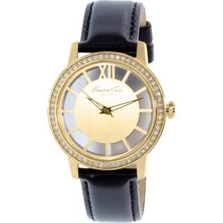 Kenneth Cole Women's KC2891 Black Leather Quartz Watch