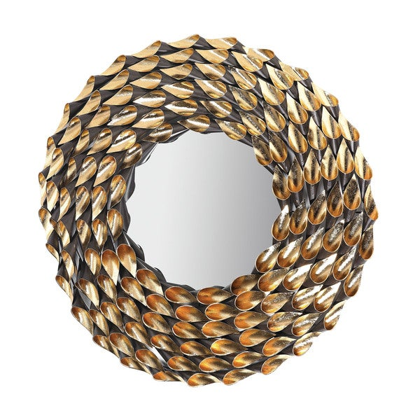 Fluted Wreath Mirror