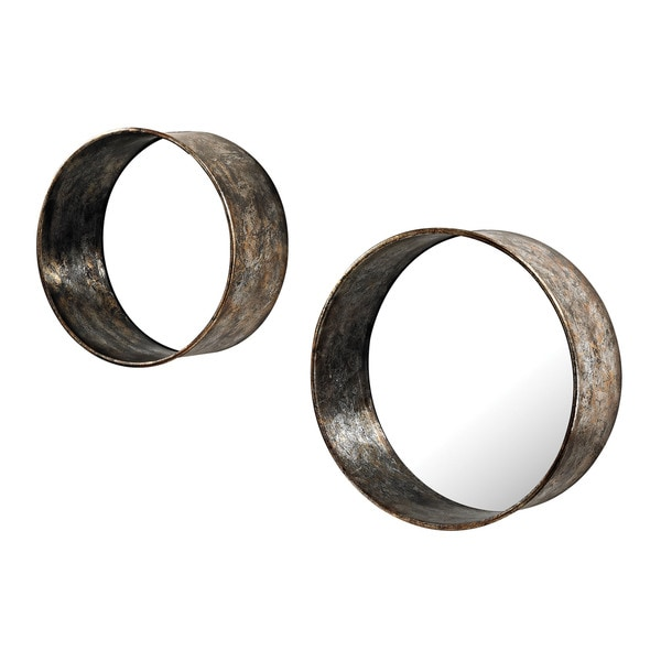 Oil Drum Mirrors (Set of 2)