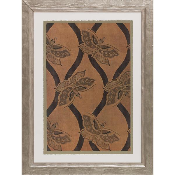 Vintage Textiles Framed Art Print VI