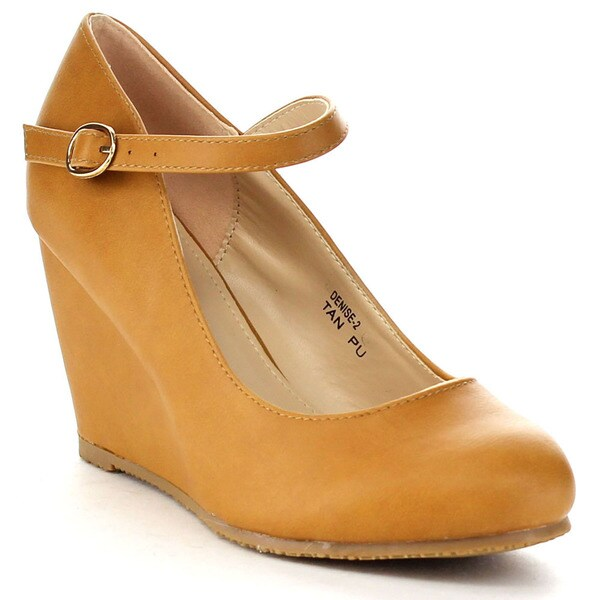 Bella Marie Denise-2 Women's Wedge Mary Jane