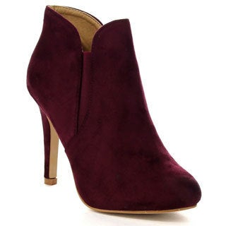Bella Marie Kendall-10 Women's Soft Elastic Cut Out Stiletto Booties