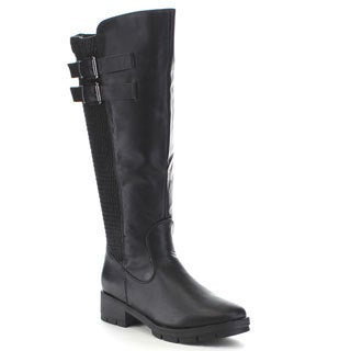 Beston Ga45 Women's 50/50 Knee High Double Straps Elastic Riding Boots