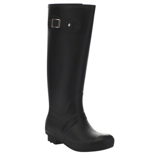 Beston Few35 Women's Tall Knee High House Check Rain Boots