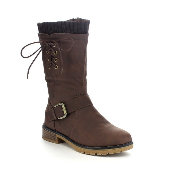 Forever Few24 Women's Stylish Mid Calf Boots