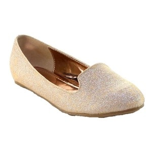 Beston Bb04 Women's Slip On Glitter Ballet Flats