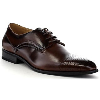 Beston Ea36 Men's Perforated Round Toe Lace Up Dress Oxford Shoes