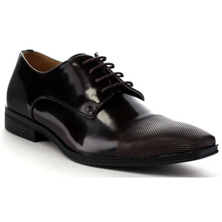 Beston Ea34 Men's Shiny Lace Up Slip On Dress Oxford Shoes