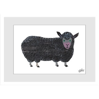 "Marmont Hill - ""Black Sheep"" by Eric Carle Painting on Framed Print"