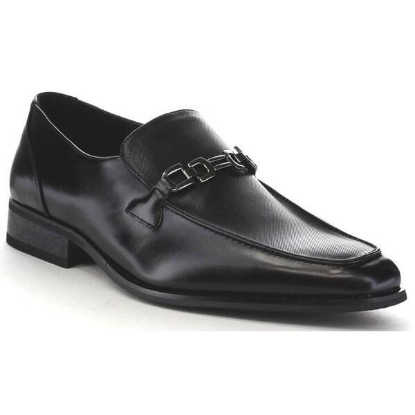 Beston Ea31 Men's Metal Chain Slip On Penny Loafer Shoes