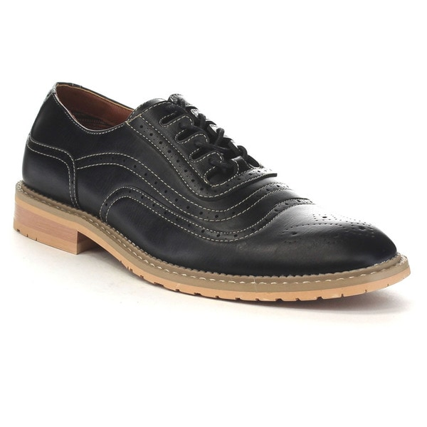 Ferro Aldo Mfa-19385le Men's Perforated Lace Up Brogue Oxford Dress Shoes