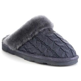 Bearpaw Effie-1674w Women's Comfort Flat Sheepskin Collar Slippers