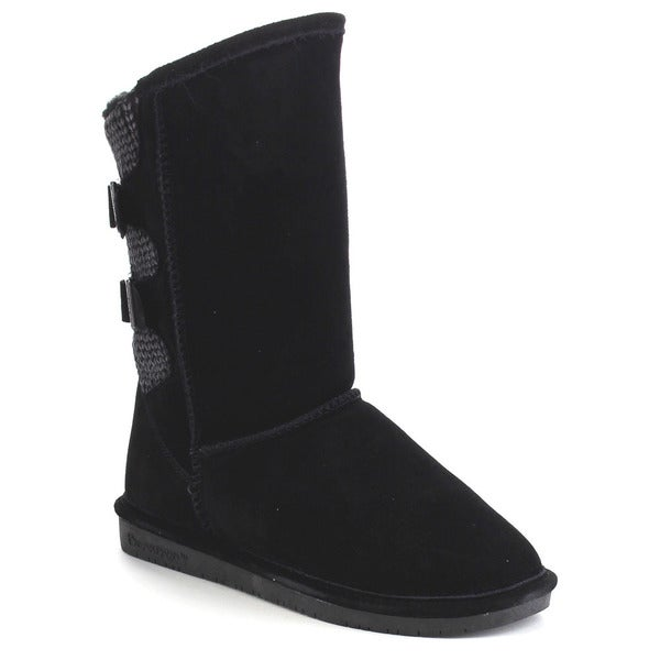 Bearpaw Boshie-1669w Women's Classical Knit Back Mid Calf Snow Boots
