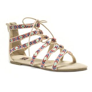 Muk Luks Women's Tan Jessica Beaded Sandals