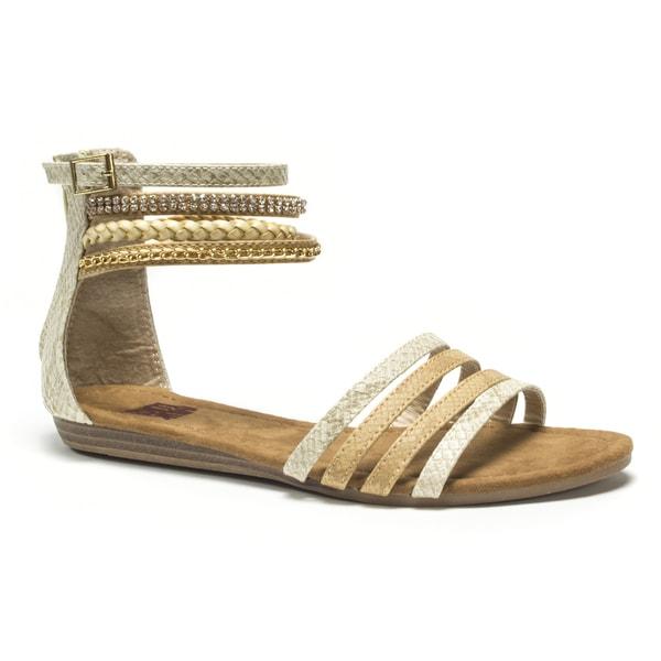 Muk Luks Women's Tan Courtney Beaded Sandals
