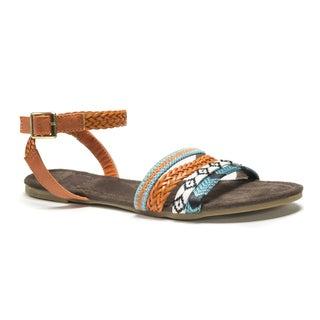 Muk Luks Women's Brown Lauren Beaded Sandals