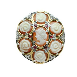 Michael Valitutti Carved Shell Cameo Ring