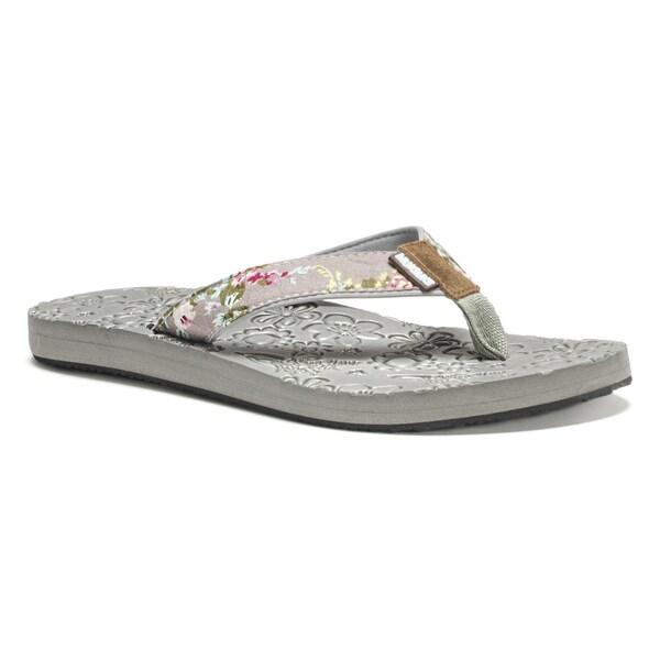 Muk Luks Women's Grey Emma Flip Flops