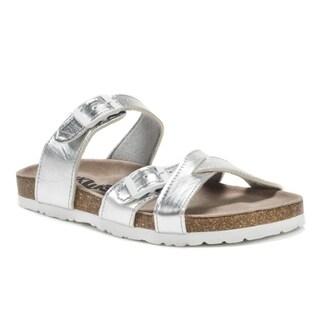 Muk Luks Women's Silver DeeDee Sandals