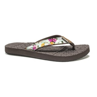 Muk Luks Women's Brown Emma Flip Flops