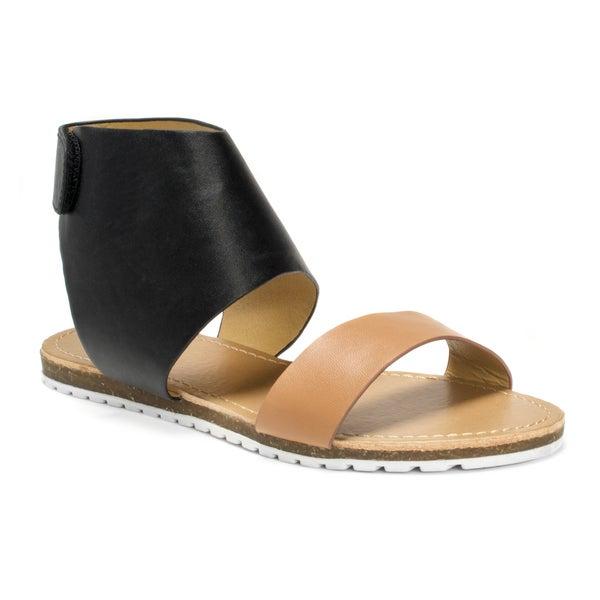 Muk Luks Women's Black Edie Sandals
