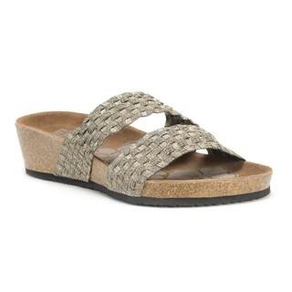 Muk Luks Women's Gold Heather Wedge Sandals