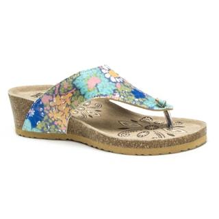 Muk Luks Women's Multi Sue Ellen Wedge Sandals