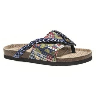 Muk Luks Women's Blue Elaine Sandals