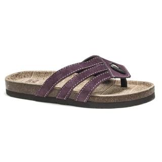 Muk Luks Women's Purple Francis Sandals