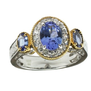 One-of-a-kind Michael Valitutti Tanzanite & White Sapphire Ring